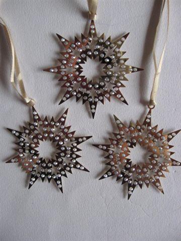 Swarovski Pixel Gold Star Ornament