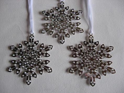Pixel Snowflake Ornaments