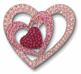 """Swarovski 2005 Annual Edition Heart Brooch"""