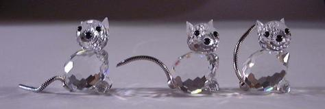 """Swarovski Mini Cats"""