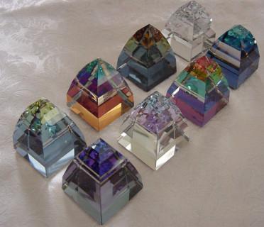 """Swarovski Pyramid Paperweights"""